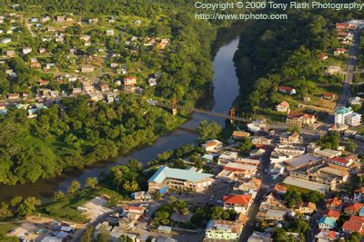 IoB-San Ignacio, Belize | Aerial of San Ignacio and the ...