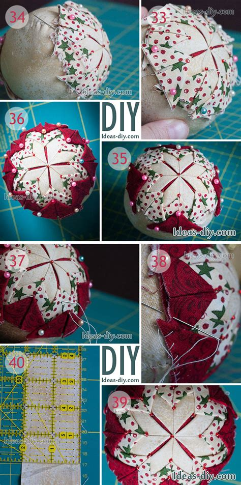 diy quilted christmas ornament   ideas diy