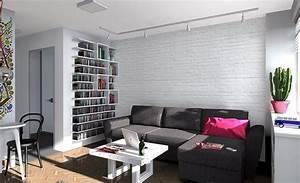 Weiße Möbel Wohnzimmer : modernes wohnzimmer mit dunklem sofa einrichten 55 ideen ~ Orissabook.com Haus und Dekorationen