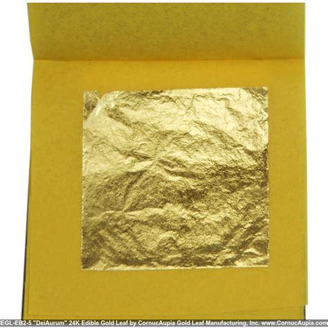 24k edible gold leaf 5 sheets booklet 2 quot x2