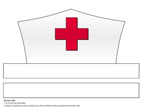 digital  paper nurses hat printable