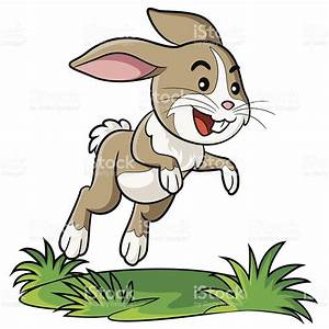 Drawn rabbit rabbit hopping - Pencil and in color drawn ...