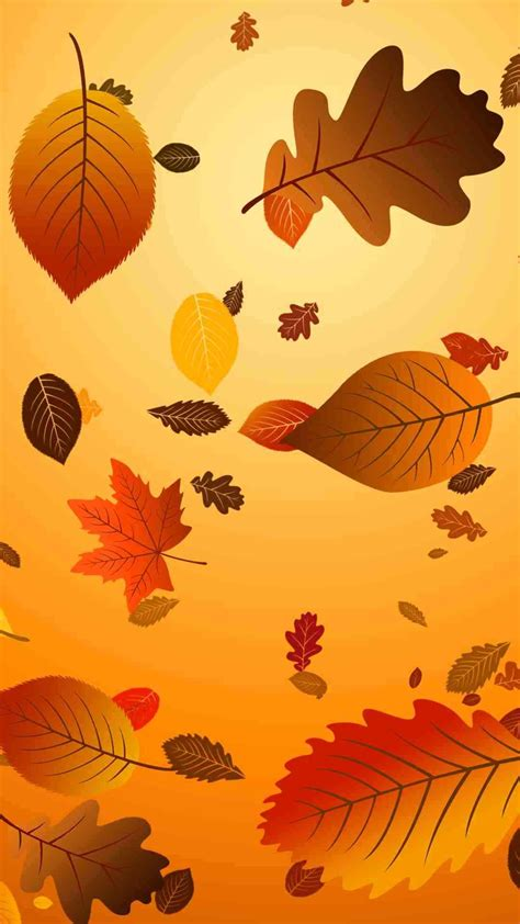 Backgrounds Fall Gold Wallpaper Iphone by Gold Autumn Leaves 1080 X 1920 Wallpapers