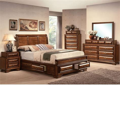 cherry finish bedroom furniture dreamfurniture konance brown cherry finish bedroom set