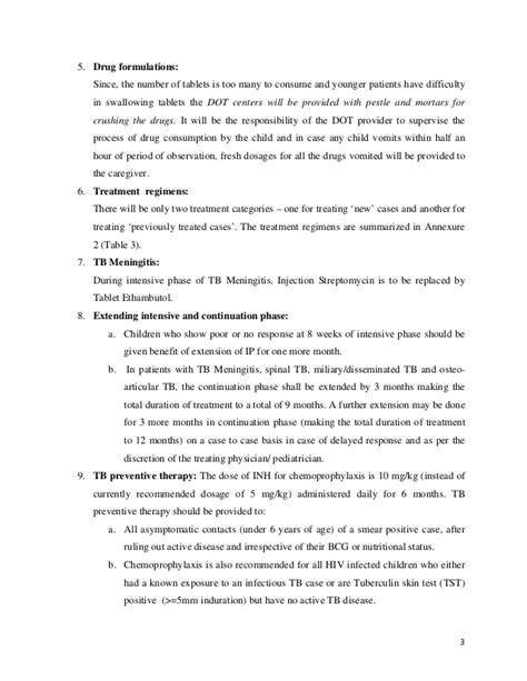 RNTCP New Paediatric Guidelines 2012