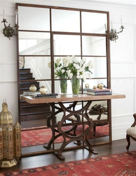 floor mirror console table console table in front of floor mirror 1 craft ideas