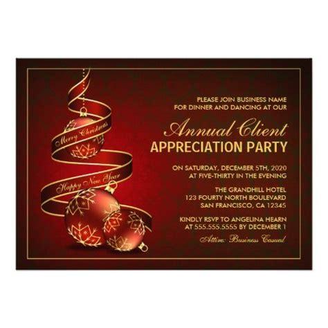 Elegant Customer Appreciation Party Invitations
