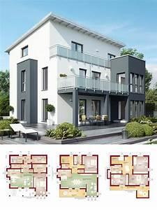 Modernes Haus Grundriss : modernes zweifamilienhaus mit einliegerwohnung pultdach architektur haus bauen grundriss ~ Orissabook.com Haus und Dekorationen