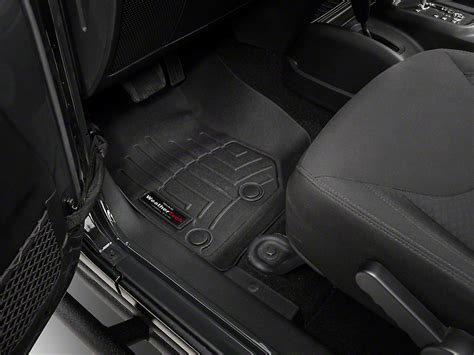 weathertech floor mats worth it weathertech wrangler digitalfit front and rear floorliners black 44573 1 2 14 17 wrangler jk