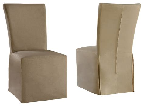 linen parsons chair with beige and gray