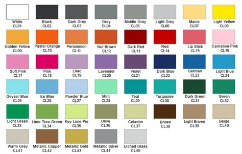 paint colour chart interior exterior paint colour chart