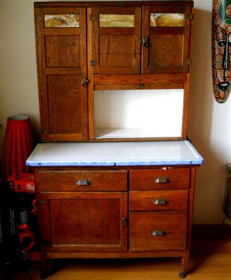Hoosier Cupboard by Vintage Wilson Oak Hoosier Kitchen Cabinet Cupboard Buffet
