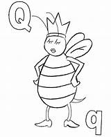 Bee Queen Coloring Bees Pages Sheets Printable Preschool Easy Ants Print Getcolorings Colorings sketch template