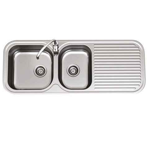kitchen sink bunnings sink advance clark 1230mm 1 75end 1thrhb 2503 1r 2597