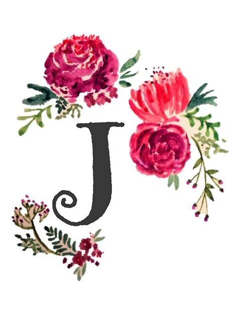 floral monogram watercolor   saraloone watercolor lettering floral monogram floral