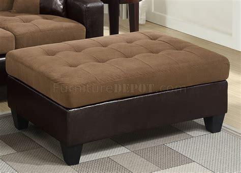 f6929 sectional sofa in saddle microfiber fabric by - Microfiber Fabric For Sofa