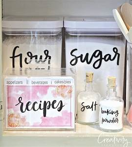 Storage sources and tips for creating a baking cabinet for Kitchen cabinets lowes with how to make sticker labels