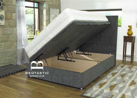 Ottoman Divan Bed by Divan Ottoman Side Lift Storage Bed Single 4 6 5ft