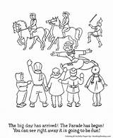 Parade Coloring Sheet Sheets Thanksgiving Macy Holiday Honkingdonkey Floats Meaning Children sketch template