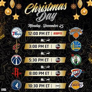 "NBA on Twitter: ""The 2017 #NBAXmas Day Schedule! 12et ..."