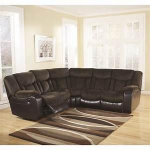Ashley Furniture Tafton Microfiber Reclining Sectional in ...