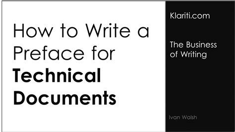 write  preface  technical documents