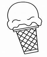 Ice Cream Scoop Cone Coloring Snow Drawing Icecream Pages Getdrawings Printable Getcolorings Print sketch template