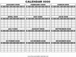 12 month planner template - 12 months calendar printable calendar template 2018
