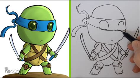 Dibujos Para Colorear Tortugas Ninja Leonardo Dibujos