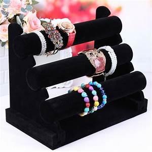Organisateur De Bijoux : black velvet montre titulaire bracelet pr sentoir bracelet stand rack de cadre d 39 affichage de ~ Teatrodelosmanantiales.com Idées de Décoration