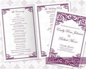 wedding ceremony program template word diy printable wedding ceremony program template 2335524