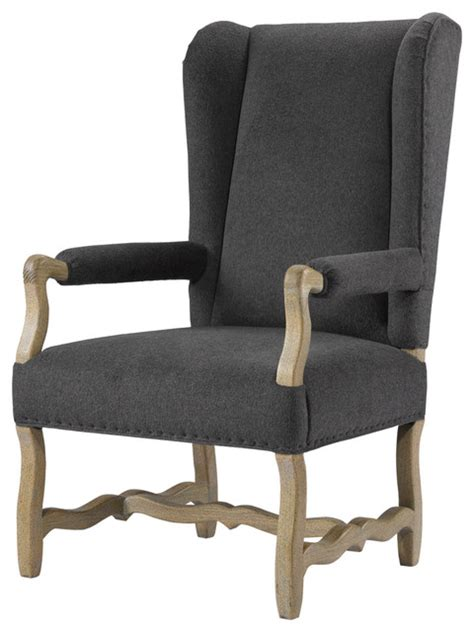 wing wool upholstered arm chair farmhouse