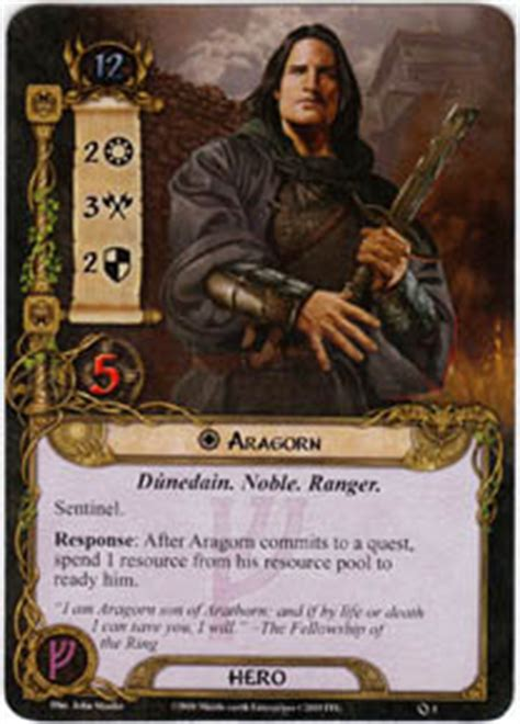 lotr lcg deck lists aragorn set lord of the rings lcg lord of the