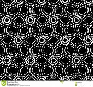 Vector Modern Seamless Geometry Floral Pattern , Black And ...