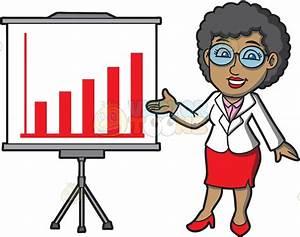 A Mature Black Businesswoman Cartoon Clipart - Vector Toons