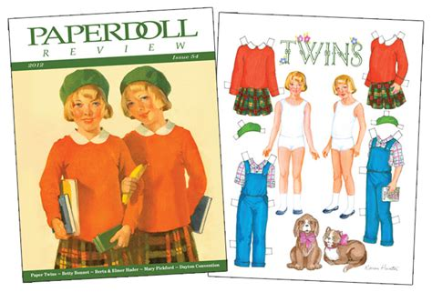 Paperdoll Review Magazine Issue 54  Paper Dolls Of