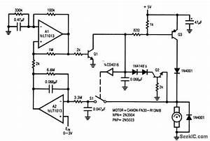 Tachless Motor Speed Controller - Control Circuit - Circuit Diagram