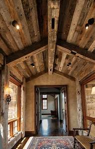 photo 49144 hand hewn skins timbers barnwood With barnwood skins