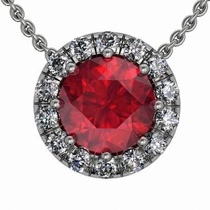 Jewelry Ruby Diamond Pendant Ring Transparent Necklace