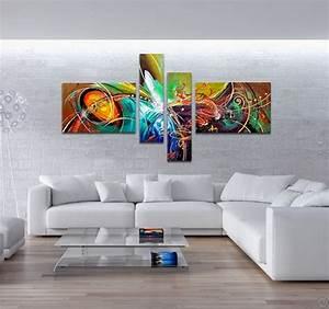 Tableau Salon Moderne : tableau abstrait fireworks ~ Farleysfitness.com Idées de Décoration
