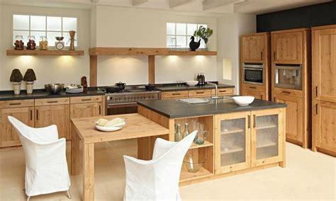 cuisine bois massif contemporaine cuisine moderne en bois massif