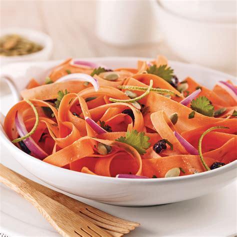 cuisine citrouille salade de carottes et graines de citrouille rôties
