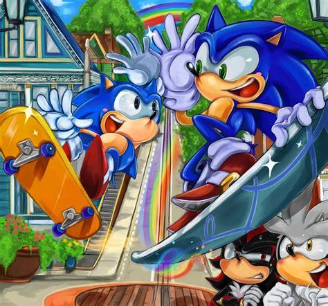 sonic  hedgehog images follow  rainbow hd