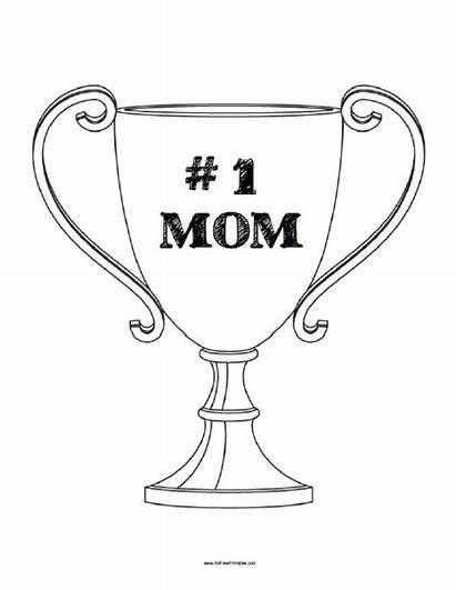 Coloring Mom Number Trophy Printable Allfreeprintable