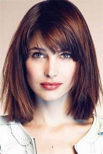 28 Popular, medium, length, hairstyles With Bangs (Updated