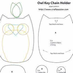 owl key pouch free sewing pattern craft patterns free With owl templates for sewing