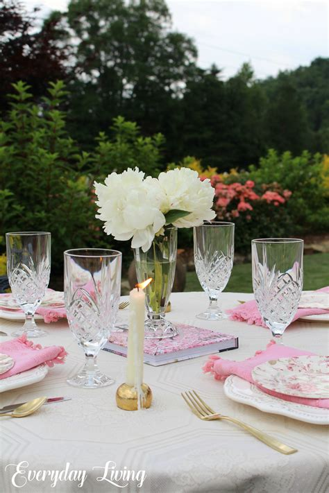 tablescape tuesday peonies chintz