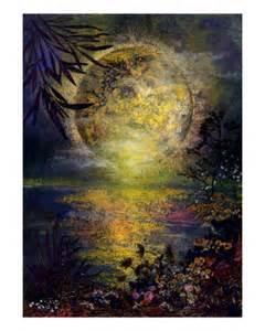 Flower Full Moon Paintings