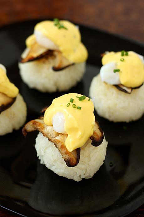 easy canapes quail eggs benedict pagodas la fuji