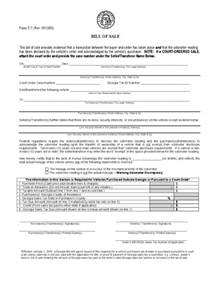 Georgia Vehicle Bill Sale Form